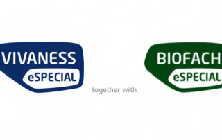 Logos of BIOFACH and VIVANESS together