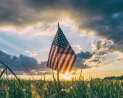Organic food and farming - US flag on grass. Attribution: Pexel, Pixabay